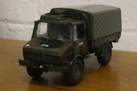 KFOR Mercedes Unimog truck